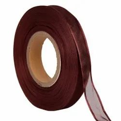 Organza Satin - Wine Red Ribbons 25mm/1''Inch 20 Mtr Length