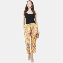 Bhagirathi Women Ladies Printed Pyjama, Size: Free