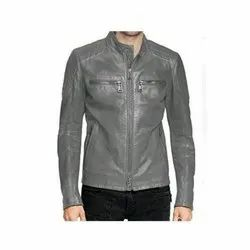 Full Sleeve Wind Cheaters Men Grey Polyester Jacket