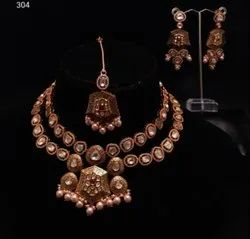 Ad Cz Fancy Necklace Set