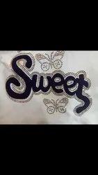 Black Sweet Vinyl Sticker, For Garments, Packaging Type: Packet