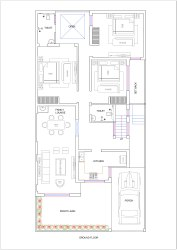 32x65 House Plan