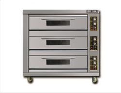 Triple 1820 x 960 x 1840 mm BJY-G270-3BD Berjaya Gas Heated Deck Oven