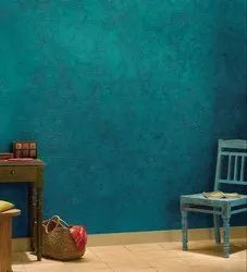Plain Polished Blue Wall Paint, For Decoration
