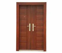 Standard Polished PETRA HOME TEAK FINISH HOME DOOR, Material Grade: Galvanised