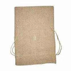 Jewellery Use Brown Plain Juco Potli Bag, Size: 4x6 Inch