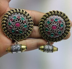 Dholki Jhumki Stud Earrings