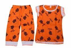 Kids Cotton Printed Top With Pajama