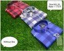 Collar Neck Men Designer Cotton Check Shirt, Handwash
