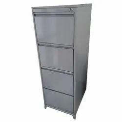 Standard Grey CRCA Steel Four Compartments Office Filing Cabinet