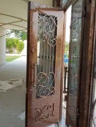 Multicolor Wrought Iron Door, For Home and office use