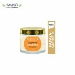 Rangrej''s Aromatherapy Papaya Face Scrub For Radiant Glowing Skin 100ml