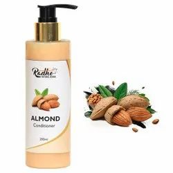 Unisex Radhe Natural Herbal Almond Conditioner, Type Of Packaging: Bottle, Packaging Size: 200 Ml