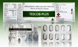 Methylcobalamin 1500 Mcg   Alpha Lipoic Acid 100 Mg   Folic Acid 400 Mcg Tescob-Plus