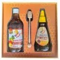 Diwali Health Gift Pack Apple Cider Vinegar, 500ml & Multiflora Honey, 400g