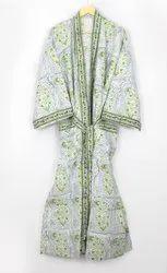 Block Printed Kimono Dress