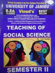 Jammu B.Ed. 2nd Sem (e) Teaching Of Social Science (e) Vinod Publications