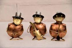 Iron Frog Musician Table Decor Set