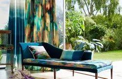 Avian Multicolor Curtain Sofa Fabric