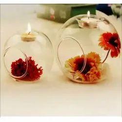 Glass Candle Ball Centerpiece