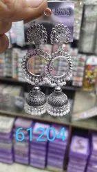 Women Ladies Fashion Silver Earrings