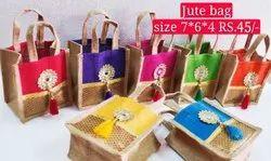 Jute thamboolam gift  Bag
