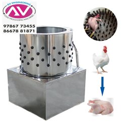 Chicken Feather Cleaning Machine-5 Birds With Washers Attached Rubbers