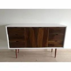Brown Rectangular Solid Wood TV Stand, Size: 4 X 3 Feet