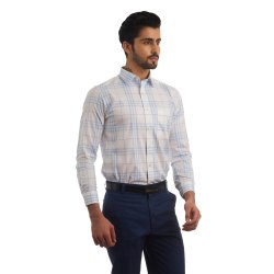 Finnoy Men Casual Wear Check Shirt