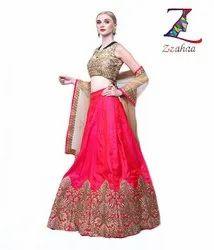 Pink Embroidery Designer ready to wear Lehenga Choli