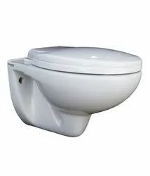 White Ceramic Wall Hung Toilet, For Bathroom Fitting