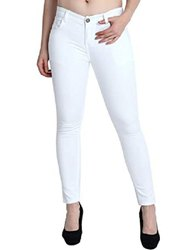 VSPL Skinny Ladies White Jeans, Waist Size: 28-32 Cm