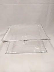 Silver Box Transparent Saree Cover. Kenken Nett Saree Cover