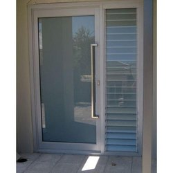 Hinged Plain Aluminium Glass Door, For Office