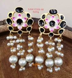 Multicolor Round Artificial Earring