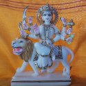White and Gold Touch Durga Maa Statue