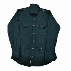 Collar Neck Casual Wear Mens Plain Cotton Shirt, Size: S-XXL