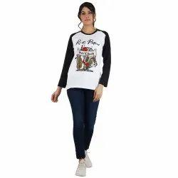 Jolie Robe Round Women Short Sleeve Designer Tshirt With Printing