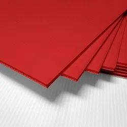 Bubble fine Bubble Guard Red Corrugated plastic sheet, Thickness: 1.5 to 8 mm, Size: 1.5 Mm To 8 Mm