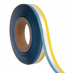 Double Satin Medallion - Blue, Whet, Yellow Ribbons25mm/1Inch 20mtr Length