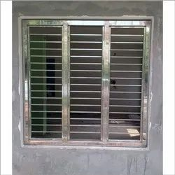 Modern Powder Coated Stainless Steel Window, For Home