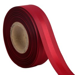 Gross Grain Satin - Bright Red Ribbons 25mm/1''inch 20mtr Length