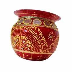Red Copper Decorative Pooja Kalash, For Puja