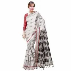 Printed Party Wear Ladies Saree, Dry clean, 6 m (with blouse piece)
