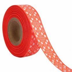 Hearts Orange Ribbons25mm/1''inch Gross Grain Ribbon 20mtr Length
