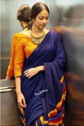 Casual Wear Ladies Fancy Silk Saree, 6.3 m(with blouse piece)