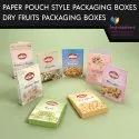 Dry Fruits Paper Pouch Style Packaging Boxes