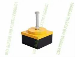 Anti Vibration Square Mount, For Industrial, Size: 120x120x80MM