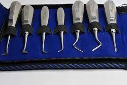 Pyrax Api High Quality 100% Pure S.S. Dental Root Elevator Kit Set Of 13 Pcs.
