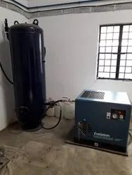 10 HP Base Mount Screw Compressor